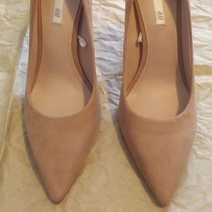 H&M Suede Leather Heels Tan